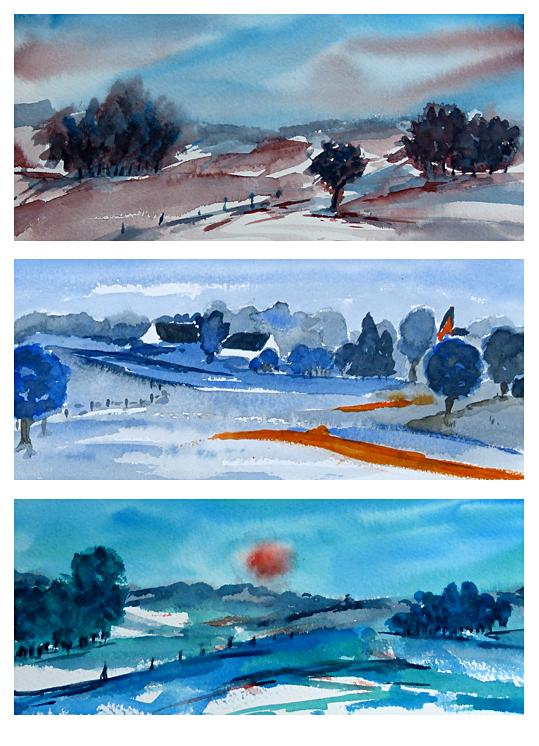 Zomer aquarel 3 daagse Klaar voor kleur, atelier van vegchel