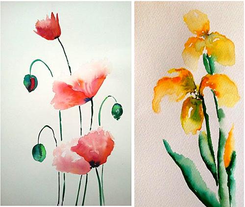 aquarelworkshop Kleurvelden, margo van vegchel