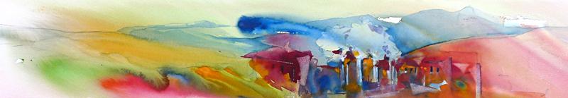 Landschap een kleurrijke waterval