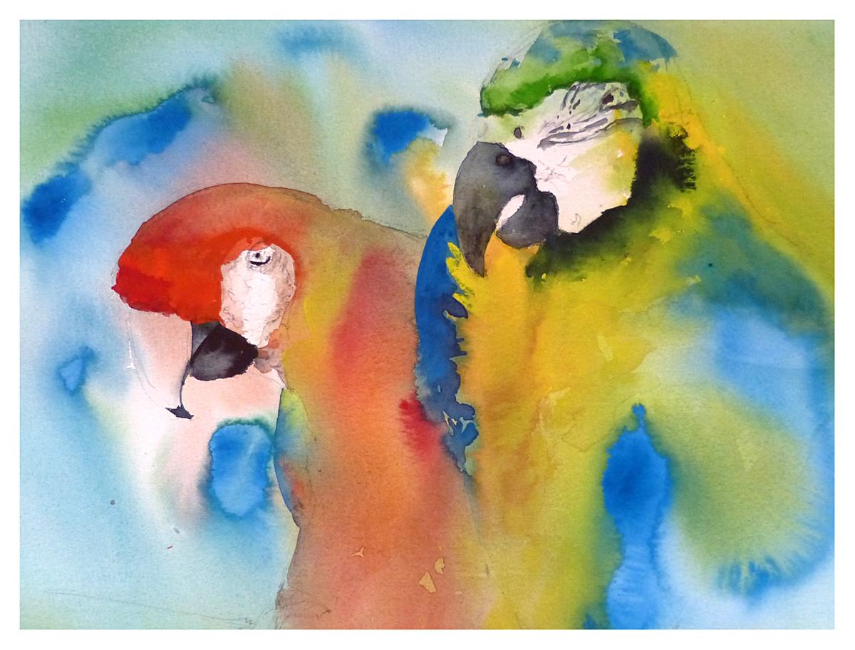 Pronkende Papegaaien